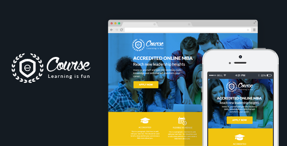 ThemeForest eCourse Instapage Education Sign Up Landing Page 9308075