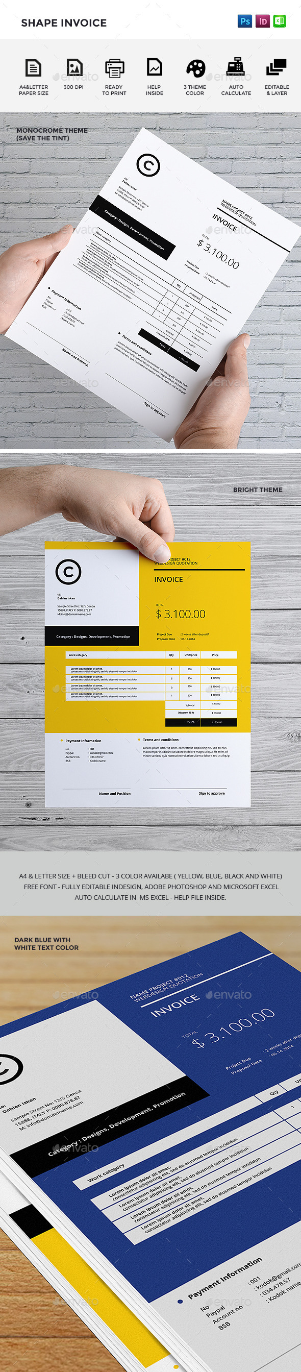 GraphicRiver Shape Invoice 9308236