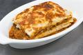 italian lasagna on white plate - PhotoDune Item for Sale