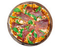 Delicious italian pizza on wooden table - PhotoDune Item for Sale
