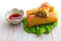 Fried Chinese Traditional Spring rolls food - PhotoDune Item for Sale