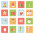 Christmas and New Year flat icons set - PhotoDune Item for Sale