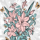 Bouquet of Lilies with Butterflies - GraphicRiver Item for Sale