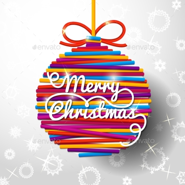 GraphicRiver Merry Christmas Handwritten Swirl Lettering 9308953