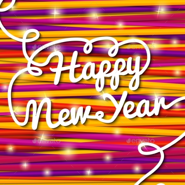 GraphicRiver Happy New Year Handwritten Lettering 9308992