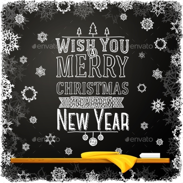 GraphicRiver Wish You a Merry Christmas and Happy New Year 9309001