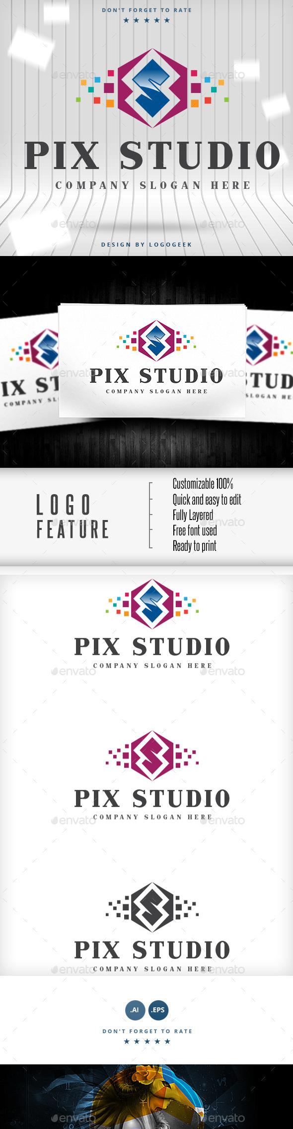 GraphicRiver Pix Studio Logo 9309059