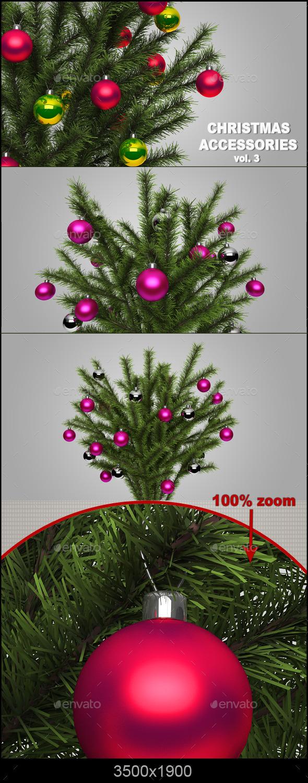 GraphicRiver Christmas Accessories Vol.3 9309828