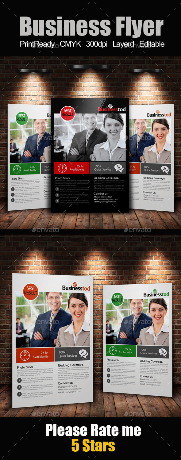 GraphicRiver A4 Multi Use Business Flyer 9309832