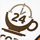 Coffee 24 Hour Logo - GraphicRiver Item for Sale