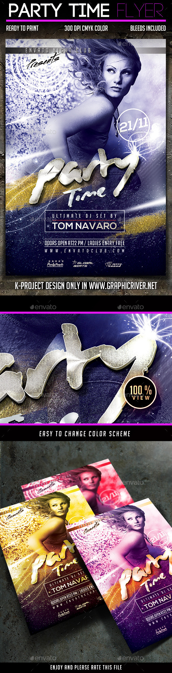 GraphicRiver Party Time Flyer 9309966