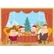 Family at Home Celebrating Christmas - GraphicRiver Item for Sale