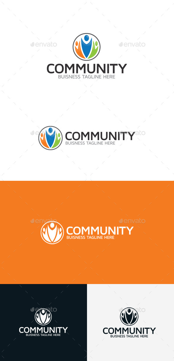 GraphicRiver Community Logo Template 9310280
