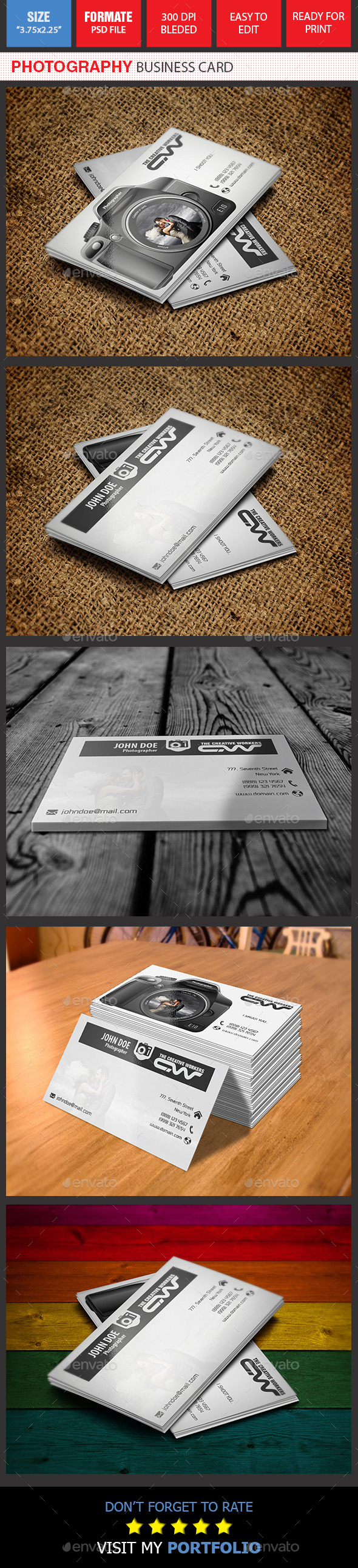 GraphicRiver Photography Business Card 9310407