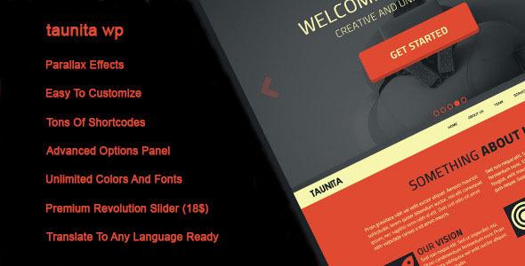 ThemeForest Taunita Responsive Multi-Purpose Wordpress Theme 9031844