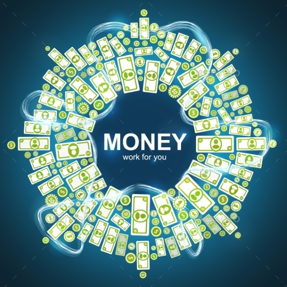 GraphicRiver Background with Money 9310713