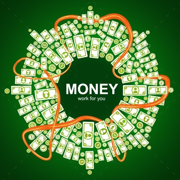 GraphicRiver Background with Money 9310714