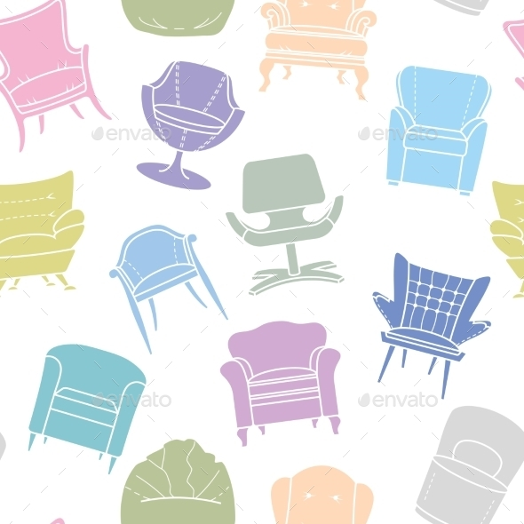 GraphicRiver Pattern of Armchairs 9310719