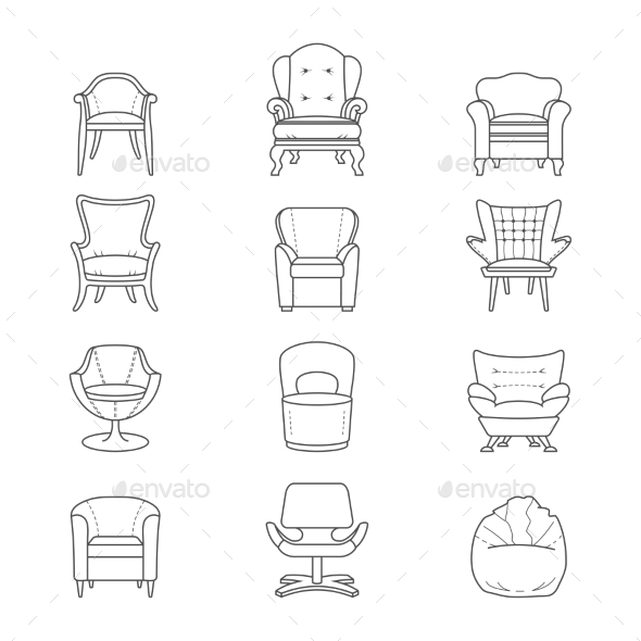 GraphicRiver Armchairs 9310734