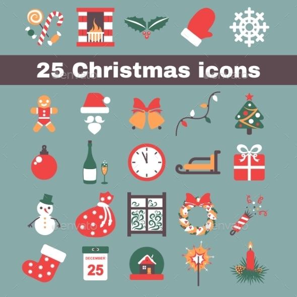 GraphicRiver Christmas Icons 9310753