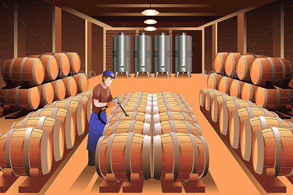 GraphicRiver Worker in a Winery 9310756