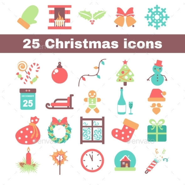 GraphicRiver Christmas Icons 9310764