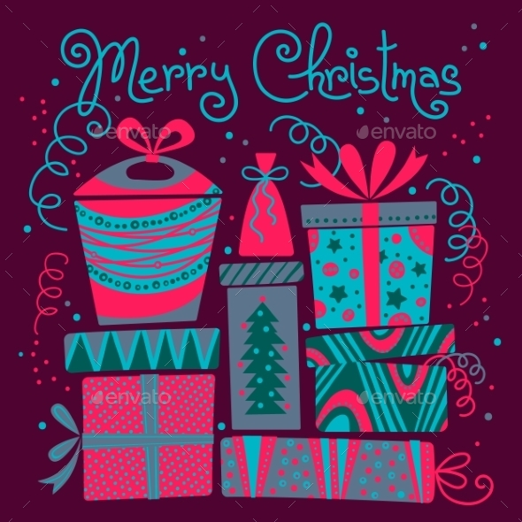 GraphicRiver Christmas Card with Gift Boxes 9310766