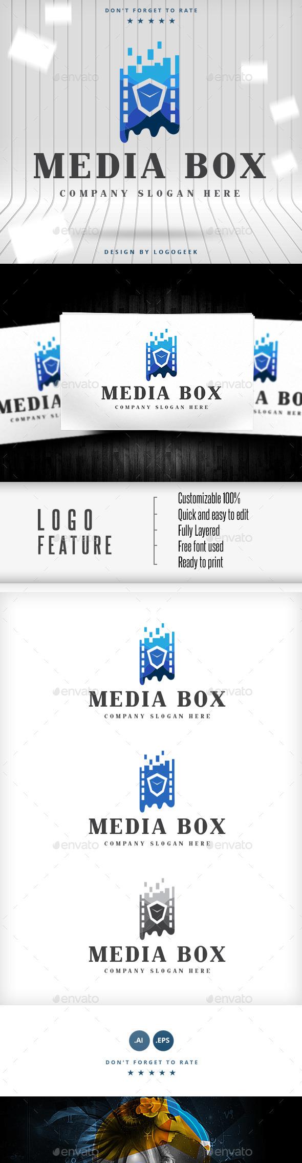 GraphicRiver Media Box Logo 9310818