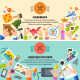 Vector Flat Handmade and Creative Process - GraphicRiver Item for Sale