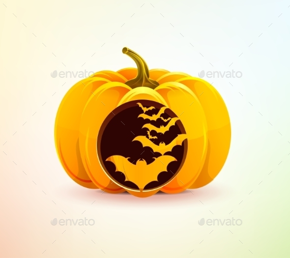GraphicRiver Halloween Pumpkin with Carved Bats 9311183
