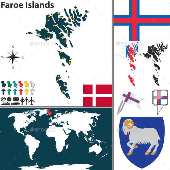GraphicRiver Map of Faroe Islands 9311234