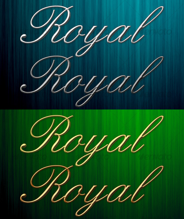 GraphicRiver 4 Royal Metal Photoshop Styles 119604