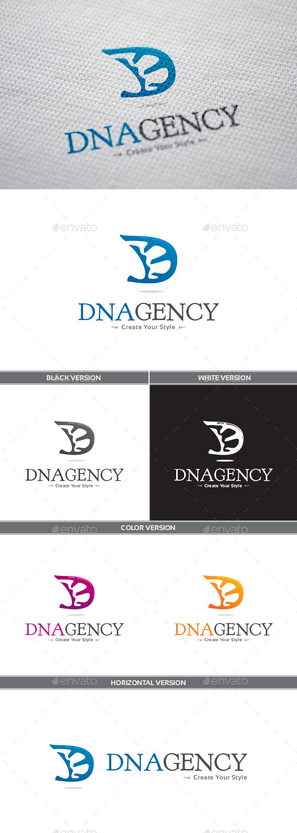 GraphicRiver DNAgency Logo 9311588