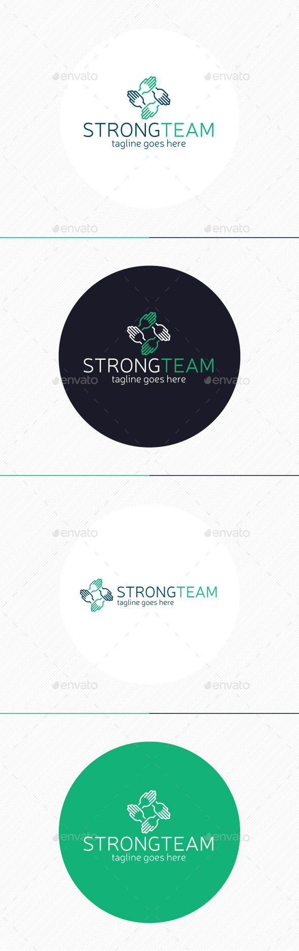 GraphicRiver Strong Team Logo 9312138