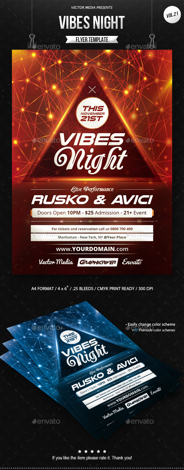 GraphicRiver Vibes Night Flyer [Vol.21] 9312160