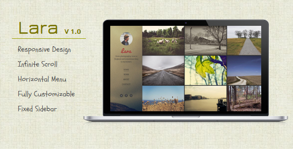 ThemeForest Lara Blogger Template For Photographers 9312275