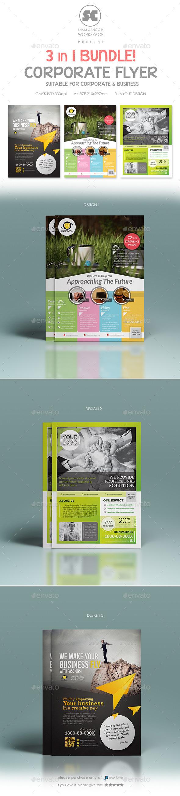 GraphicRiver Multi Purpose Corporate Flyer Bundle 9312339
