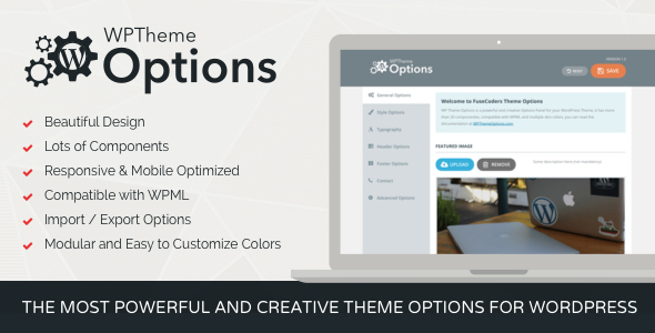CodeCanyon WordPress Theme Options Modular and Responsive 9312577