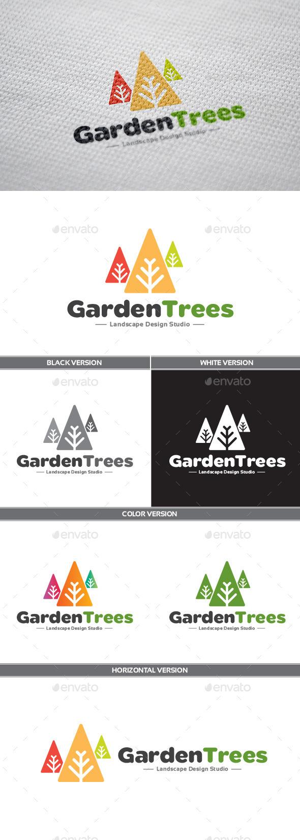 GraphicRiver GardenTrees Logo 9312610