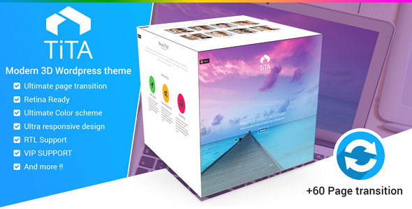 ThemeForest Tita 3D Modern & Unique Wordpress Theme 8983649