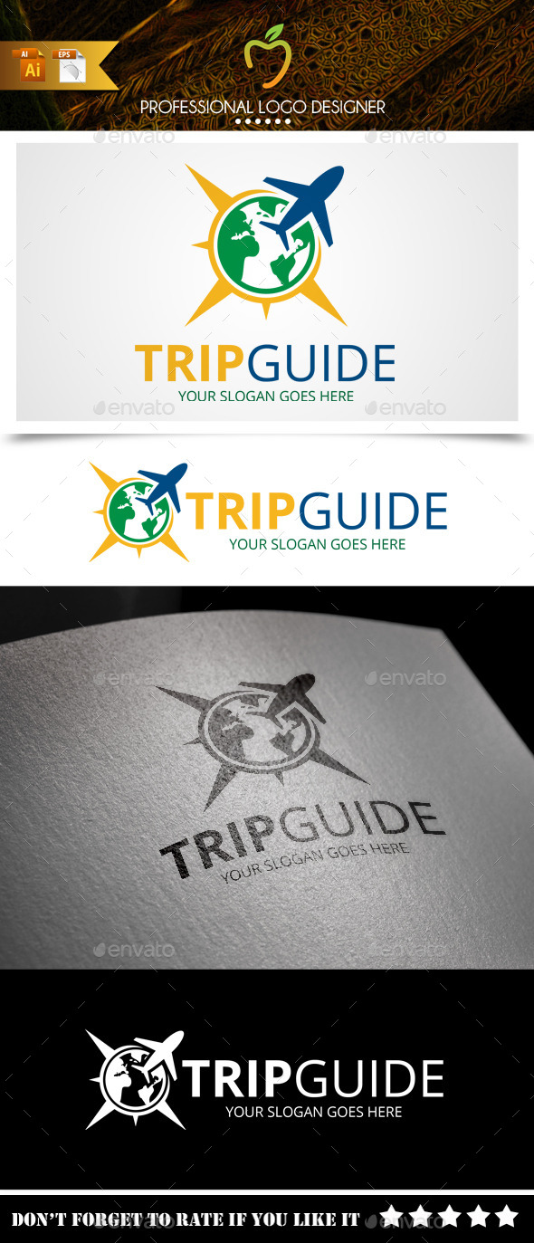 GraphicRiver Trip Guide Logo 9314417