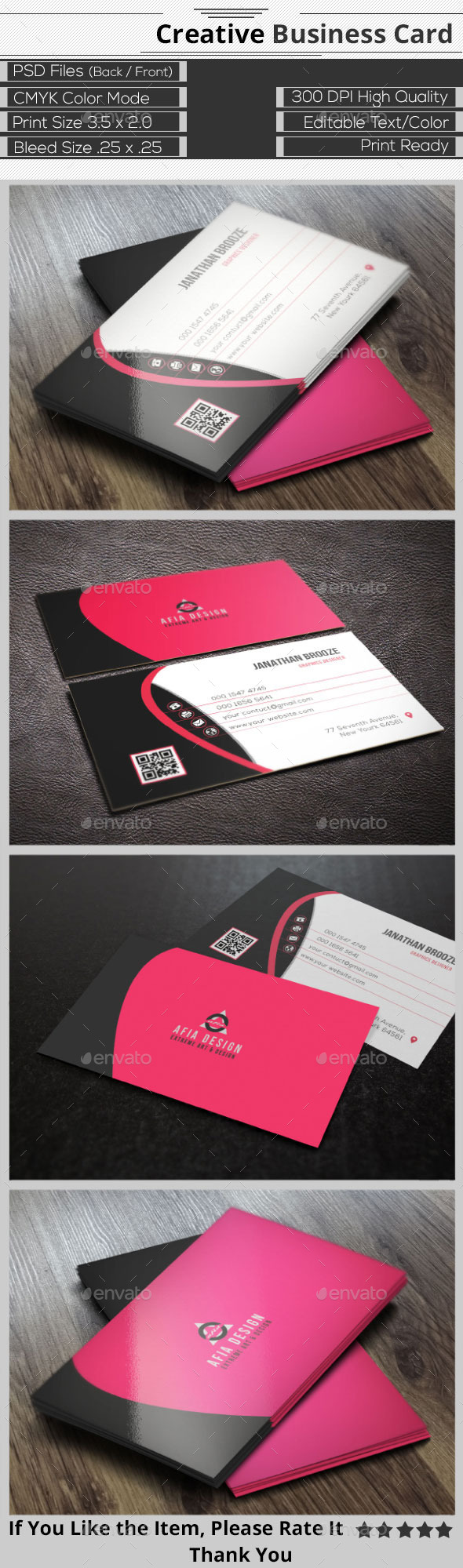 GraphicRiver Clean Creative Business Card 9314431