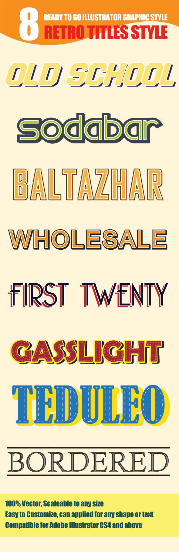 GraphicRiver 8 Retro Text Style 9222682