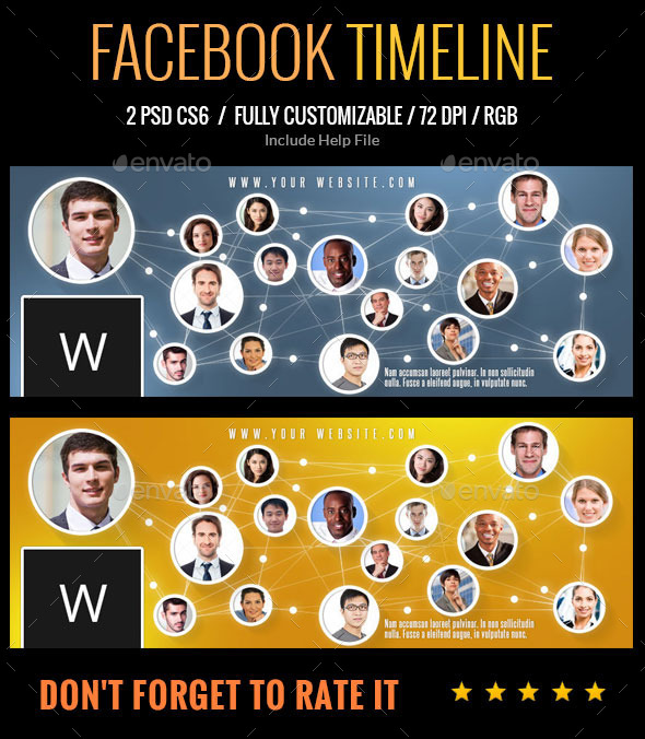GraphicRiver Facebook Timeline 9314872