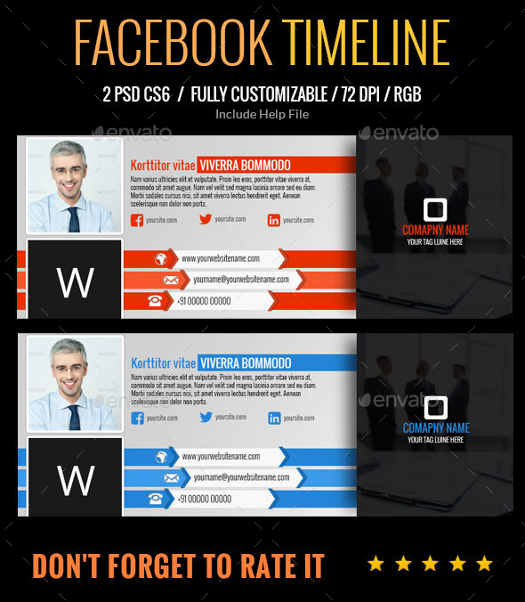 GraphicRiver Facebook Timeline 9314884