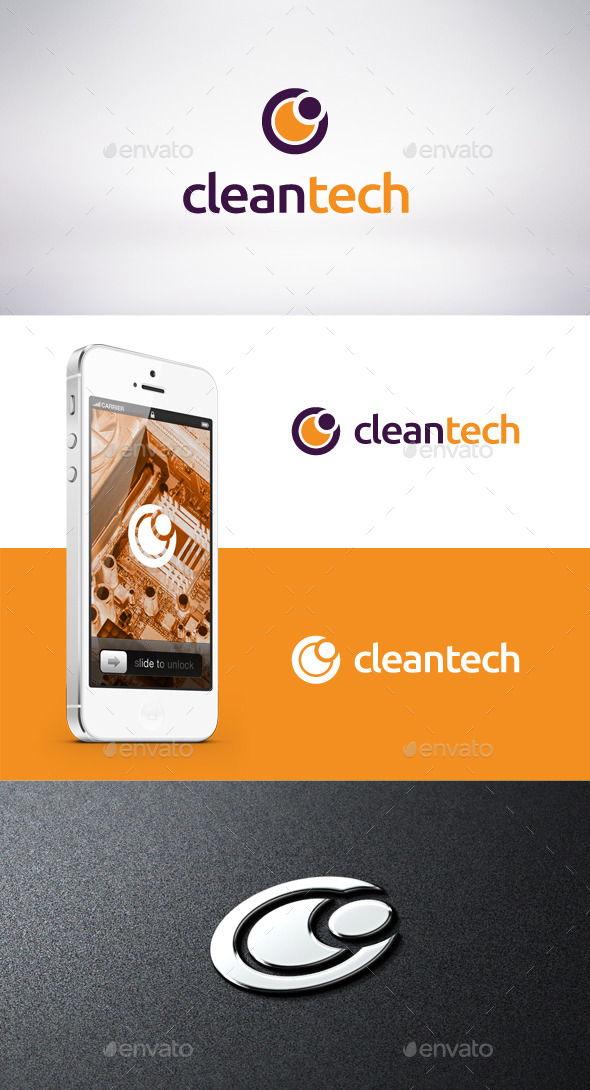 GraphicRiver Clean Tech Logo Template 9315111