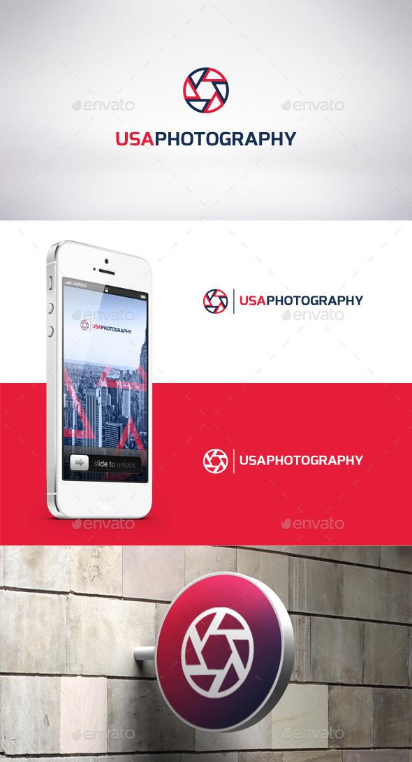 GraphicRiver USA Photography Logo Template 9315191