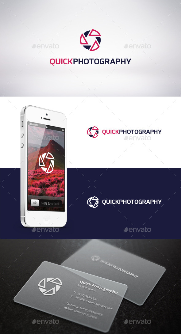 GraphicRiver Quick Photography Logo Template 9315344