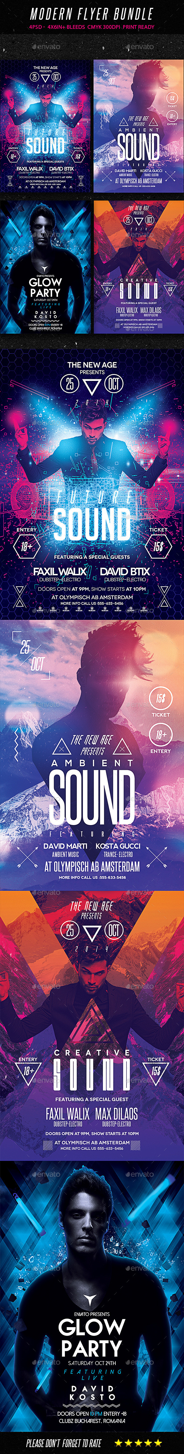 GraphicRiver Modern Flyer Bundle 9315355