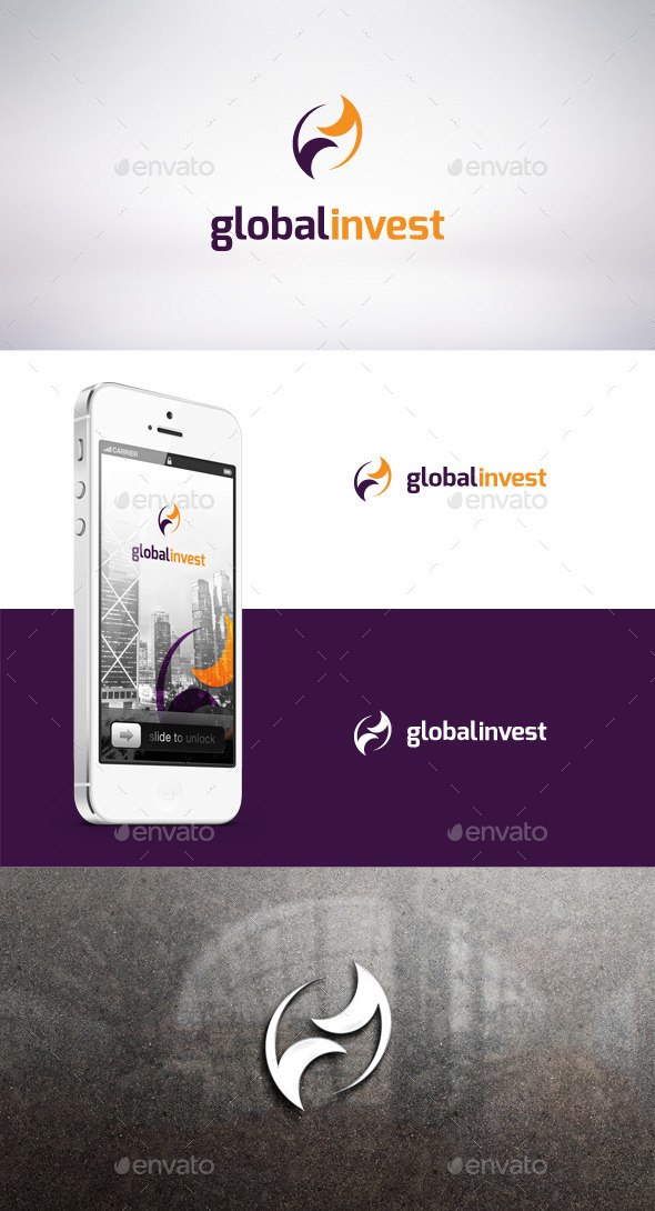 GraphicRiver Global Invest Logo Template 9315376